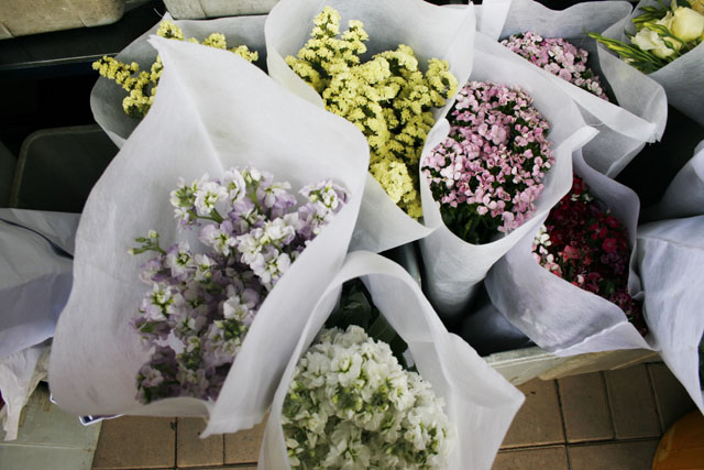 Simple bouquets, yet lovely.