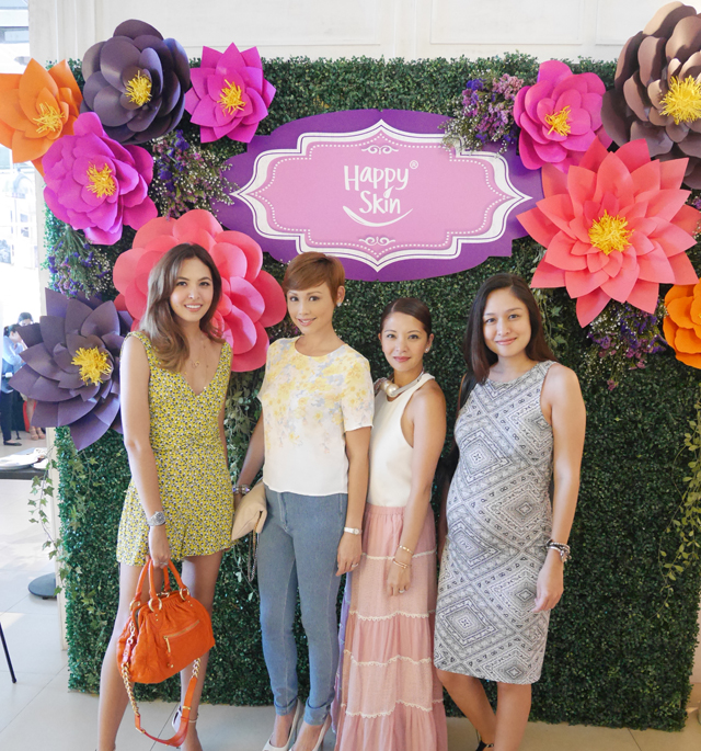 At the Happy Skin Beauty in Bloom launch with my gorgeous friends (L-R Maggie Wilson Consunji, Cat Arambulo Antonio, and Kelly Misa Fernandez)