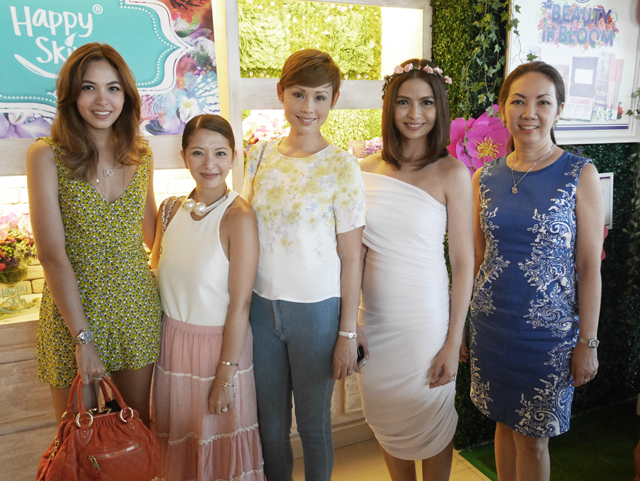 from L-R: Maggie Wilson Consunji, Cat Arambulo Antonio, Myself, Rissa Mananquil Trillo of Happy Skin Cosmetics and Anna Sobrepena of Lifestyle Asia