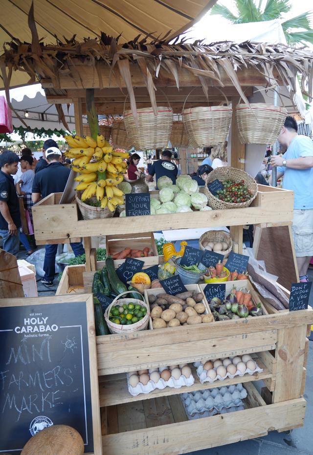 Holy Carabao Stall of fresh organic produce