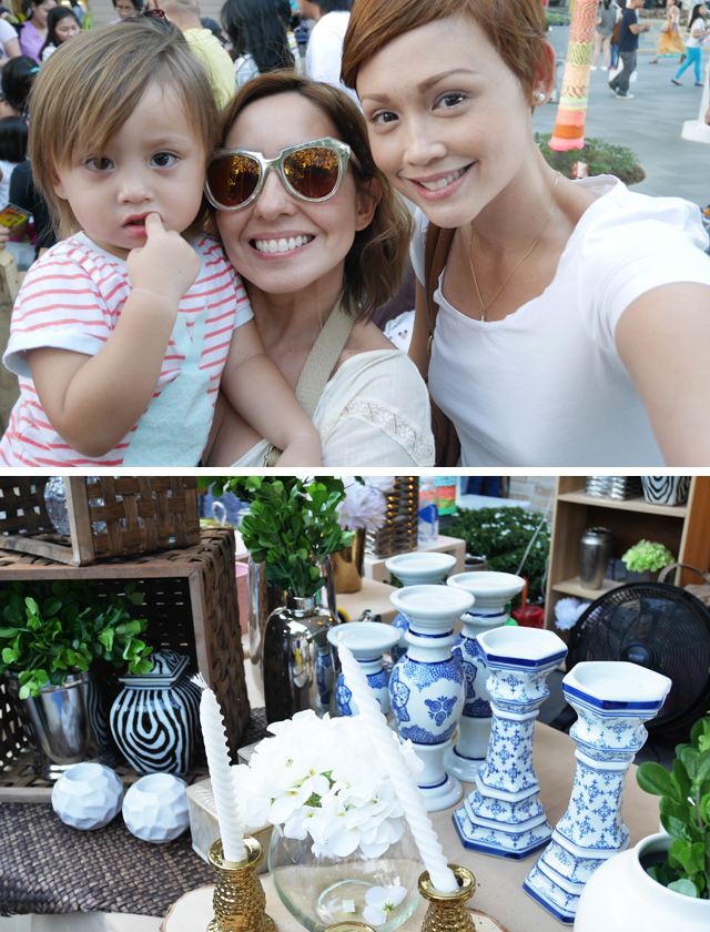 Hindy and I share a selfie with her youngest baby The home decor from Home Root was a pleasant addition to the food booths.