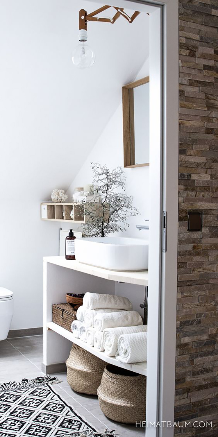 Storage Ideas and Styling Tips for Small Bathrooms - MarilenStyles.com