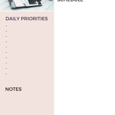 12 Weeks To A New You, The Daily Plan Week 2