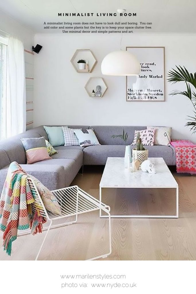 minimalist living room and how to create one.