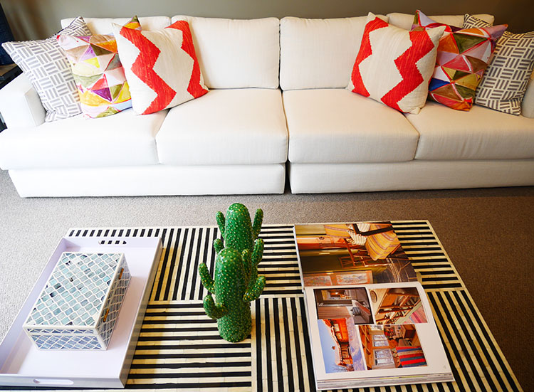 How to add color to your home in a tasteful way.