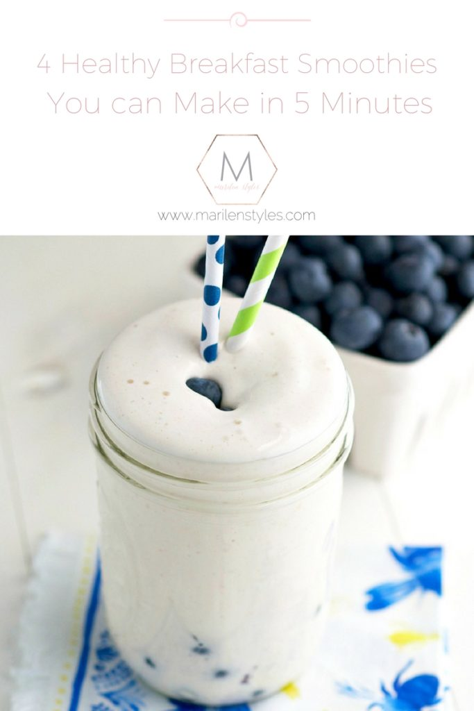 blueberry muffin breakfast smoothie
