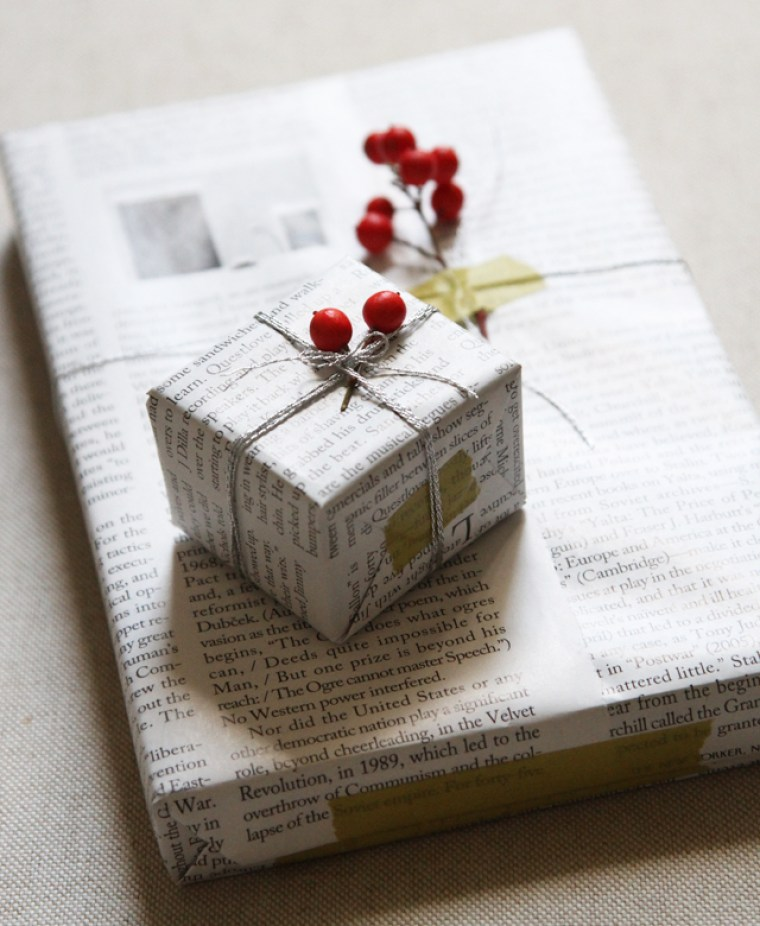 gift wrapping ideas with recycled paper