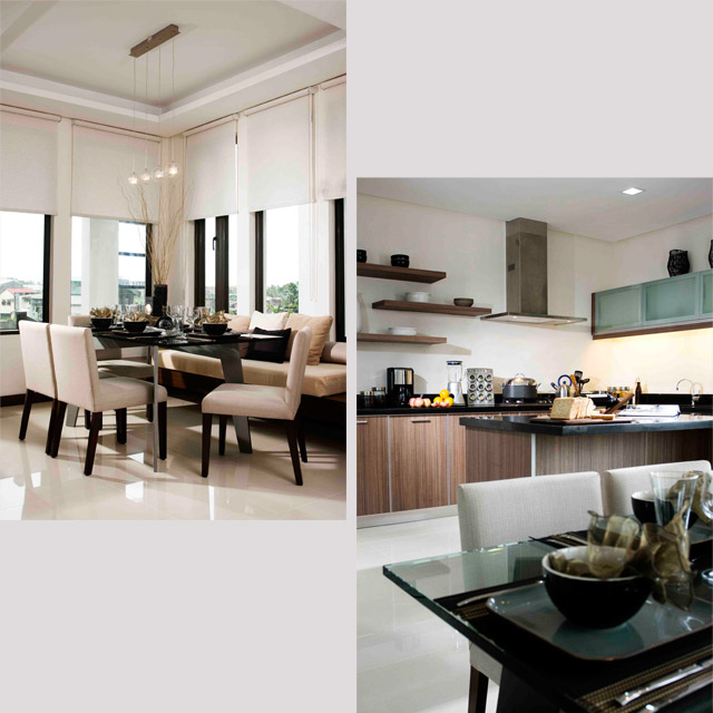 The Helena Model Unit Dining and Kitchen Area
