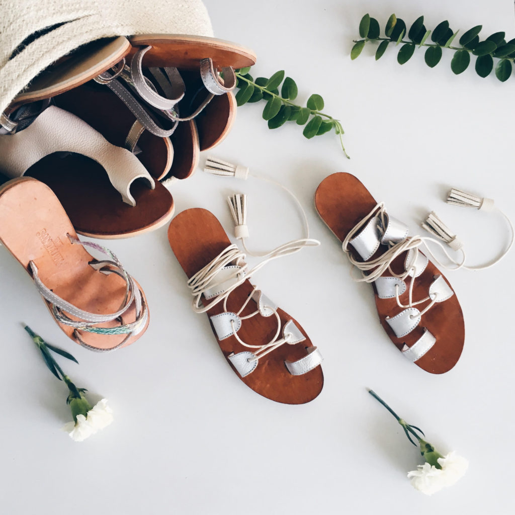 product styling and photography for a sandal brand